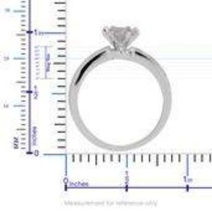 Jewelry - Simulated Diamond Round Cut Ring in Silvertone